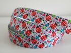 🎀Printed Grosgrain Ribbon Dummy Hair Clips Cake Craft Hair Bow 1 Meter 22/25mm