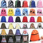 Unisex Thread Drawstring Backpack Cinch Sack School Tote Gym Bag Shoe Sport Pack