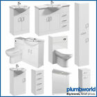 Bathroom Sink Cabinet Vanity Unit White Basin Storage Furniture Door Sink Toilet