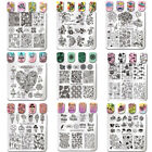 Nail Art Image Stamping Plates Square Stamp Stencil Templates Tool BORN PRETTY