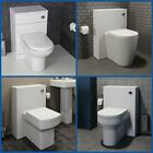 Classic Bathroom Vanity WC Back To Wall Toilet Unit Modern White Various Sizes