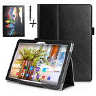 Luxury Case Cover, Tempered Glass & Stylus For Lenovo Tab 3 Plus FHD 10 Inch