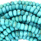 Faceted Blue Turquoise Rondelle Beads 15.5