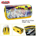 Yu-Gi-Oh! YIGIOH dual zip canvas pen pencil bag makeup stationery bag new