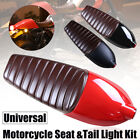 For Honda Suzuki Yamaha Motorcycle Cafe Racer Seat Refit Saddle W/ Tail Light