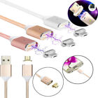 Micro USB Braided Charging Cable Magnetic Adapter Charger Android Samsung 2.4A