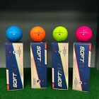 Maxfli SOFTFLI Color Golf Balls - Blue, Orange, Green, Pink - NEW 3-BALL SLEEVE