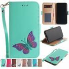 For iPhone X/10/7/8/6s plus phone case butterfly prints pu leather strap folios