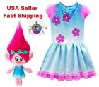 Trolls Poppy Cosplay Costumes  Clothes Kids Party Holiday Birthday Dress O14 image