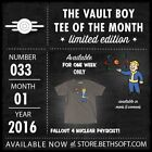 Fallout VBotM Bethesda Vault Boy Tee T Shirt of the Month - COMPLETE 2016 SET!