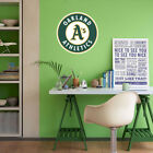 Oakland Athletics MLB Team Logo Color Printed Decal Sticker Car Window Wall on Ebay