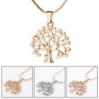 Crystal Rhinestone Tree Of Life Chain Pendant Necklace Jewellery Family Hot Gift