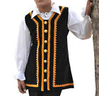 Kids Pirate Coat Vest Ages 4-12 years Black Gold Cotton Larp Costume Theater
