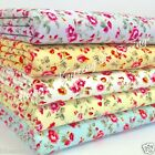 Sweet Charlotte floral fabric blue lemon grey 100% cotton per 1/2 M /fat quarter