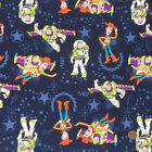 Toy Story Dark blue 100% cotton fabric sold per fat quarter/ half metre