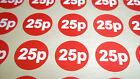 120 20mm 3/4 Inch Bright Red Car Boot Price Stickers / Labels 9 Different Prices