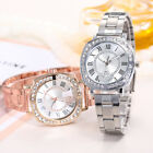 New Luxury Women Crystal Dial Quartz Analog Stainless Steel Bracelet Wrist Watch