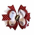 Football Boutique Hair Bow (You Choose Colors)