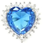 Luxury Swiss Blue Topaz White CZ Woman's Persent Silver Ring US 8.0#