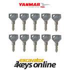 Yanmar 52160 (Set of 10) Excavator Key, Excavator Grader Dozer,Yanmar parts