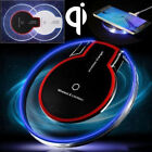 Powerful Safe LED Clear Qi Wireless Charger Charging Pad For Samsung Galaxy S9