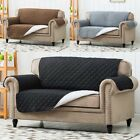 Luxury Quilted Reversible Sofa Protector Throw Cover Waterproof 1 2 3 Seater