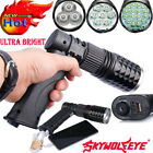 Tactical 16 LED Light Rechargeable 80000LM Flashlight USB Charger T6 LED Torch D
