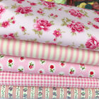 Teaparty rose bundle 5 fat quarters or 5 metre bundle 100 % cotton fabric