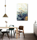 Abstract Stretched Canvas Print Framed Wall Home Office Shop Decor Black Yellow