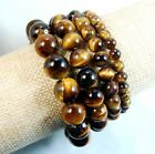 Natural 6mm 8mm 10mm 12mm Yellow AAA+++ Tiger's Eye Gems Bead Braclet 7.5'' AAA
