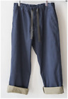Uniqlo Men JWA Relaxed Chino Flat-Front Pants Blue Brown NWT
