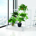 3 Tier Metal Plant Stand Flower Pot Rack Shelf Garden Outdoor Display Holder