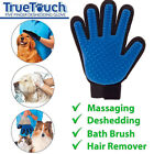 Pet Glove Grooming Brush Cat Massage Dog Hair Deshedding Gentle Removal Cleaning