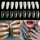 100/600Pcs Beauty False Ballerina Nails Full Cover Coffin Shape Nail Art Tips