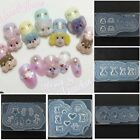 Silicone 3D Nail Mold Wings Foxes Pattern for UV Gel Manicure Tool