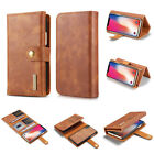 RealCowhide Leather Card Slots Wallet Phone Case For iPhone X 6S 7 8Plus Sumsung