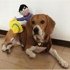 Novelty Riding Cowboy Pet Dog Clothes Halloween Costumes Knight Dog Coat Clothes