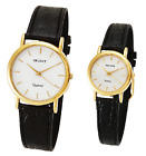 Genuine ORIENT Quartz Modern Dress Mineral glass Men Women Black band watch