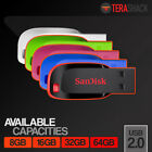 SanDisk Cruzer Blade 8GB 16GB 32GB 64GB Flash Drive USB 2.0 Thumb Stick Memory <br/> 100% Genuine Sandisk - Guaranteed!