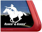 Runnin' & Gunnin' | Cowboy Mounted Shooting Horse Window Decal Sticker