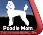 Poodle Mom |High Quality Vinyl Standard Poodle Dog Window Decal Sticker
