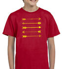 ARROWS RED & YELLOW YOUTH T SHIRT BOYS & GIRLS TRENDING INDIANS HUNTER