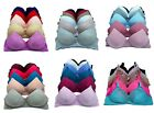 Lot 3 6 No Wire Full Cup Stripe Floral Lace Plain Light Padded Wire Free Bra B/C