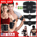Electric Muscle Toner EMS Machine Wireless Toning Belt 6 Six Pack Abs Fat Burner image