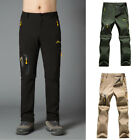 NEW Men's Removable Long Short Casual Pants Cargo Work Trousers Camping Hiking