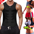 Mens Weight Loss Waist Trainer Vest Sauna Sweat Body Shaper Tank Slimmer Trimmer
