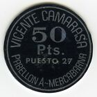 ☆ ☆ SPAIN ☆ OLD TOKEN • VICENTE CAMARASA • 50 PTS☆ MERCABARNA • BARCELONA ☆C2773