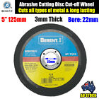 "5"" 125mm Cutting Disc Wheel for Angle Grinder Cut Off Metal Steel Flap BT7222"