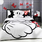 Disney Kids Bedding Set Mickey Minnie Shake Hands Duvet Cover Set Pillowcase 3PC image
