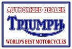 "Vintage Metal Sign NOT TIN Triumph Motorcycle  Garage Shop  18""x30"" $60.75 USD on eBay"